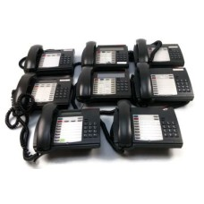 Lot Of 8 Various Mitel Superset Phone Models (3x 4015/ 3x 4001/ 2x 4150)