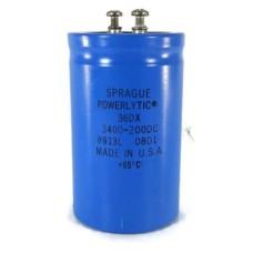 SPRAGUE POWERLYTIC  36DX 3400uF 200V ALUMINUM CAPACITORS