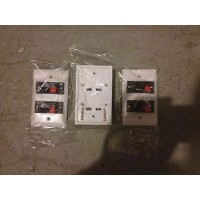 Lot of 59 Speaker Jack Wall Plate White 16 GA wire Dual Clip up to 16 AWG
