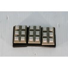 LOT OF 3 Grayhill 6 KEYS Key Panel Mount Keypad matrix
